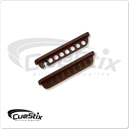 cue rack wit clip - chocolate