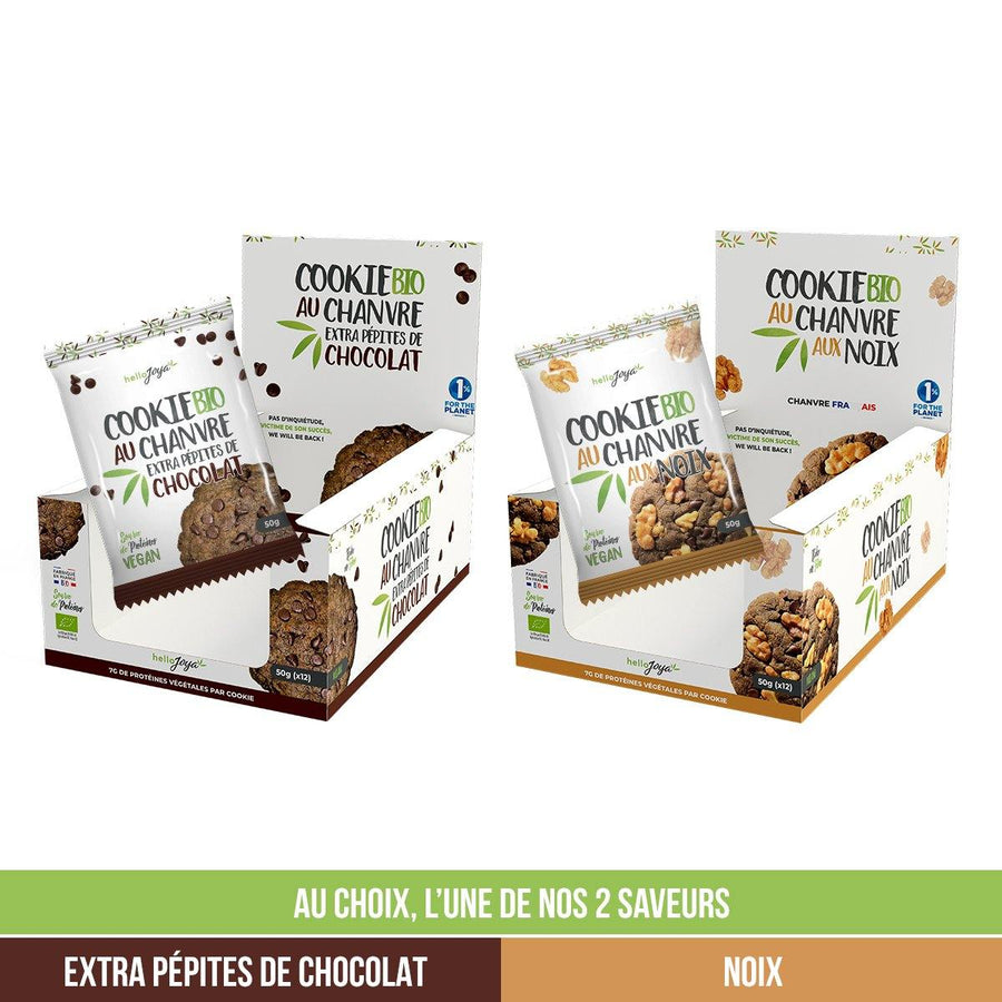 12 cookies Bio au Chanvre - 600g