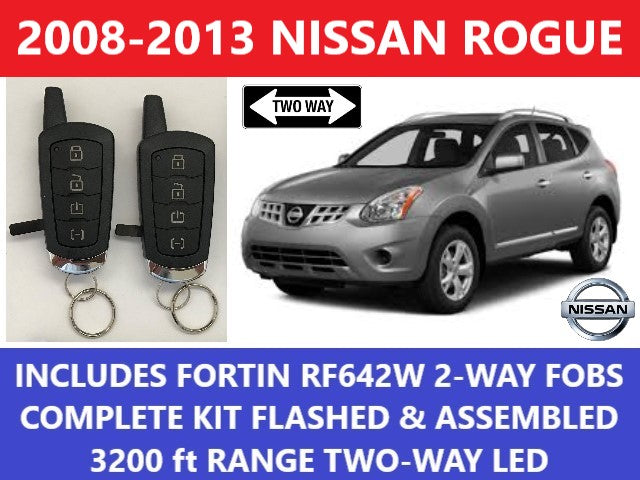 Nissan Rogue Remote Start >> Plug And Play Remote Start Fits Nissan Rogue 2008 2013 Fortin Rf 642w