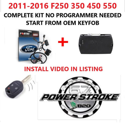 Plug and Play Remote Start 2011-2016 Ford F 250 350 450 550 DIESEL
