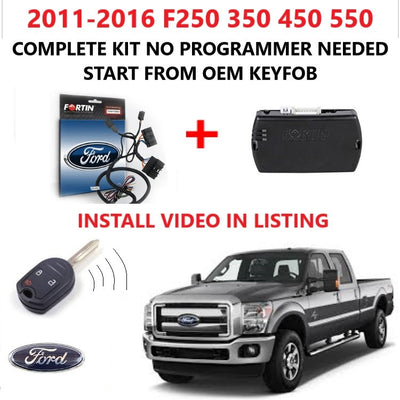 Plug and Play Remote Start 2011-2016 Ford F250 F350 F450 F550 Gas Engine