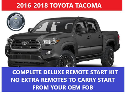 Toyota Tacoma Plug & Play Remote Start Complete Kit 2016 2017 2018