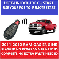 Plug & Play Remote Starter Fits 2011-2012 Dodge RAM