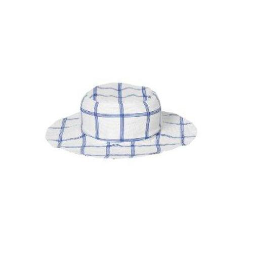 'Rickshaw' Reversible Sun Hat in Blue Graph