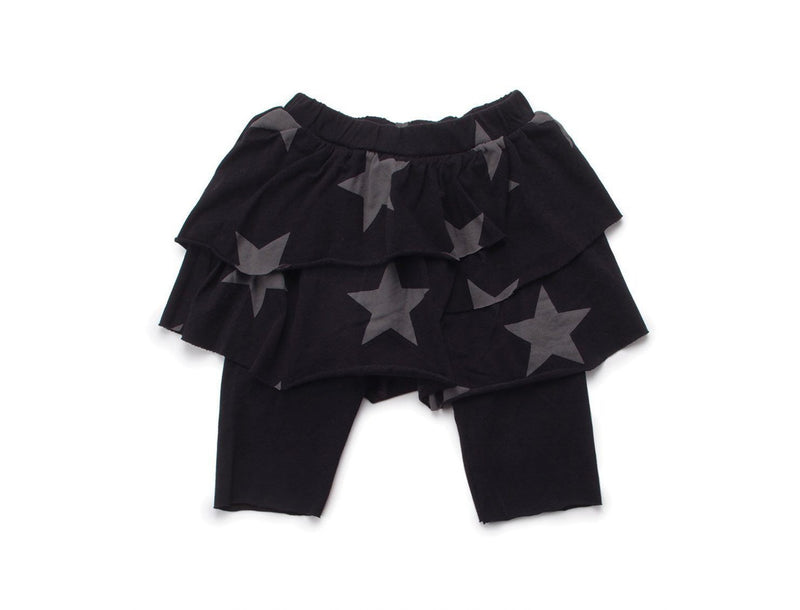 'Star' Skirted Leggings in Black