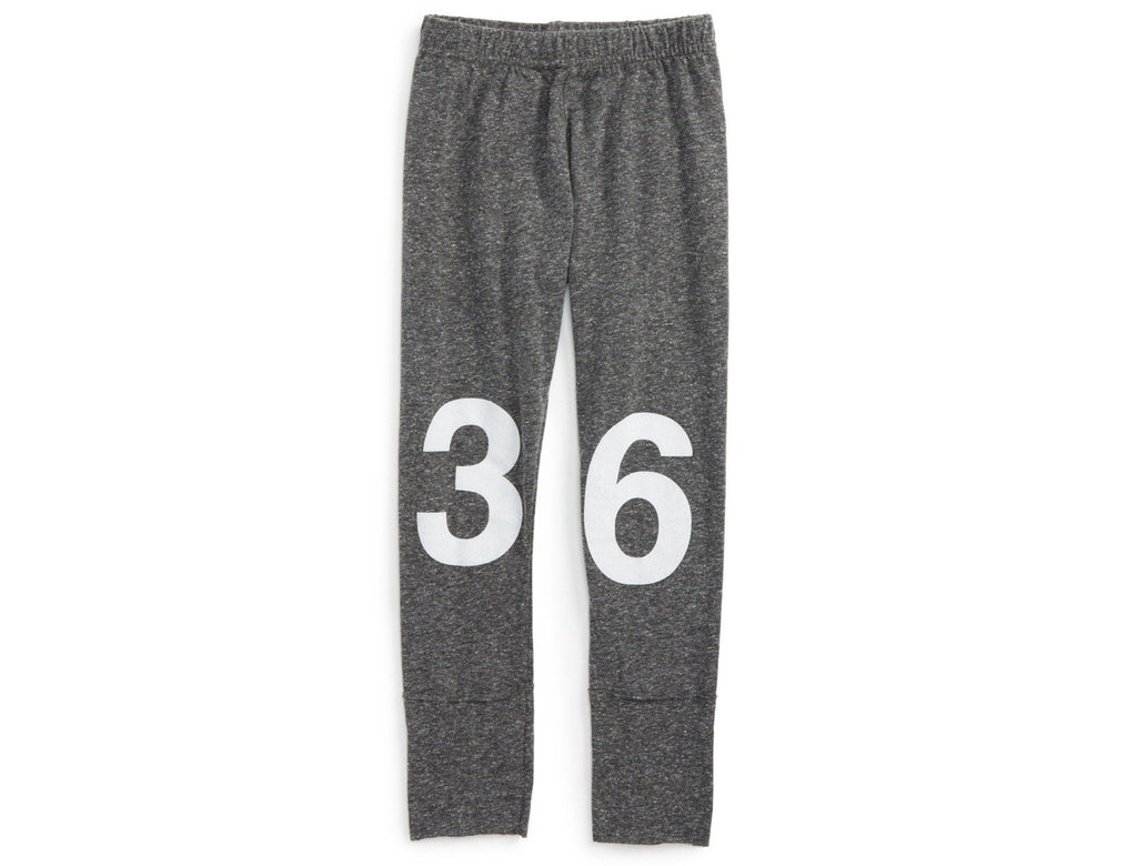 Nununu Numbered Leggings - Charcoal