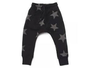 Nununu Star Baggy Pants - Black
