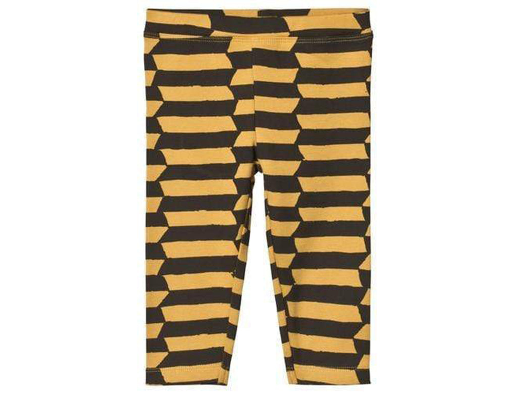 'Wolof' Leggings In Banana Yellow & Touba Black