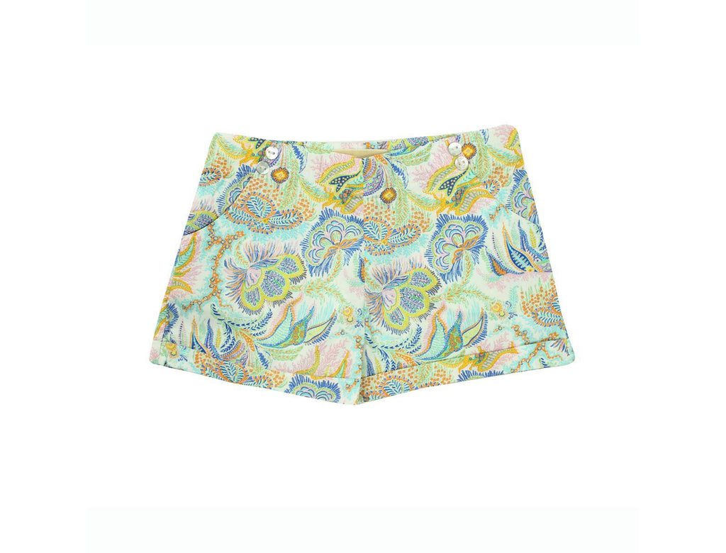 Mini Shorts in Paisley Corals