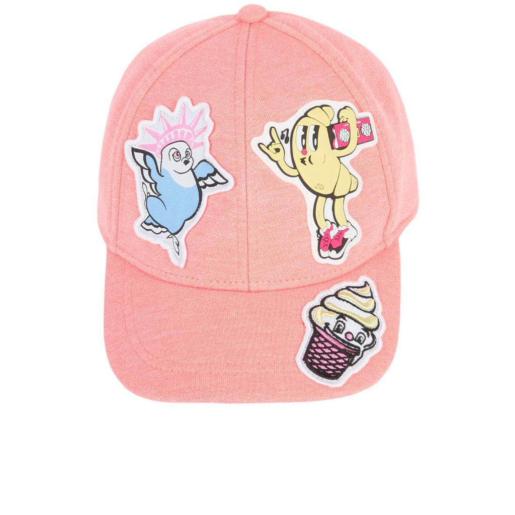 'Food Fiesta' Baseball Cap Hat in Coral