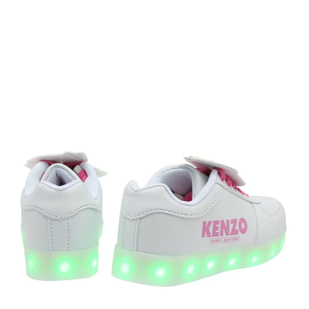'Food Fiesta' Kenzo Sneakers in White with Pink