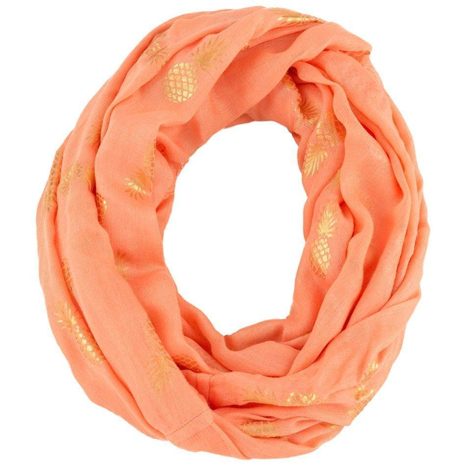 'Pina' Infinity Scarf in Orange