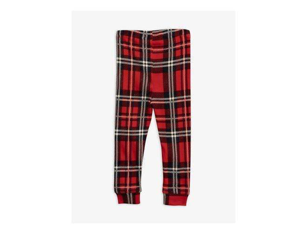 Plaid Legging Pants in Red