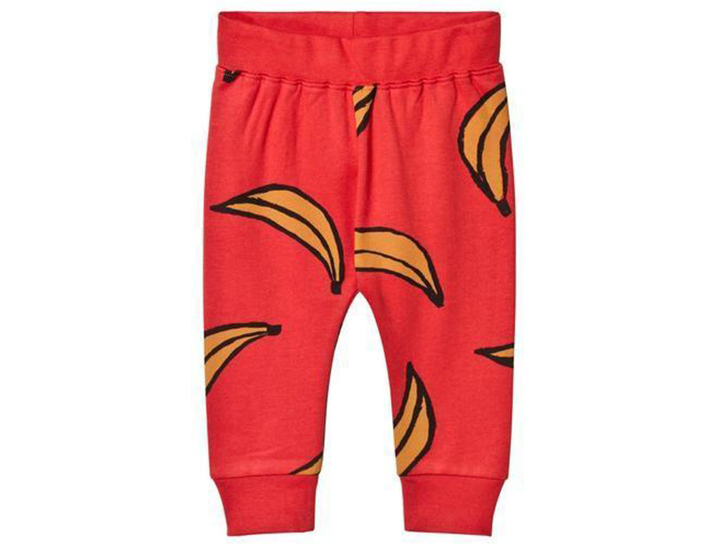 'Bananas' Leggings In Setting Sun Red