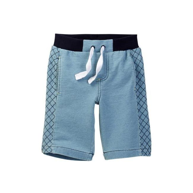 Knit Shorts in Light Blue