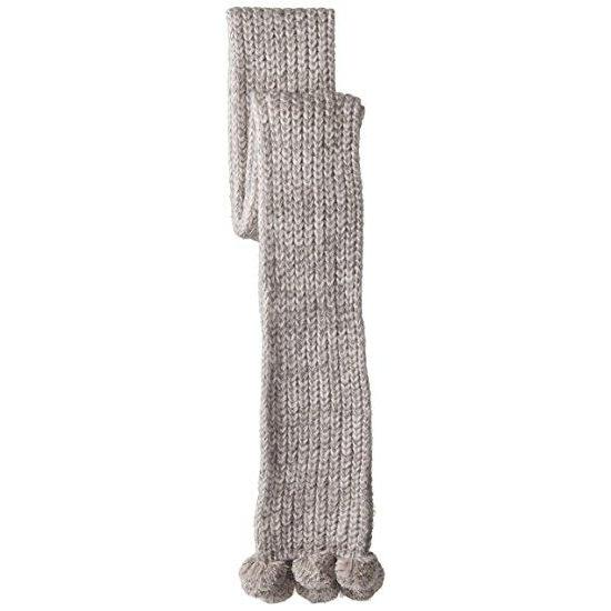 'Abigail' Knit Scarf in Light Grey and Blush