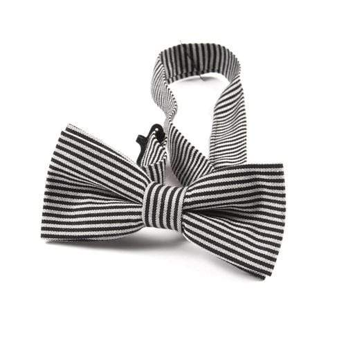 Bow Tie in Black Bengal Stripe