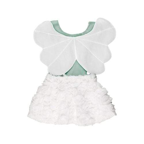 'Angel Girl' Overall Dress in Limited White