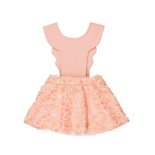 'Bird Girl' Overall Dress in Limited Soft Pink