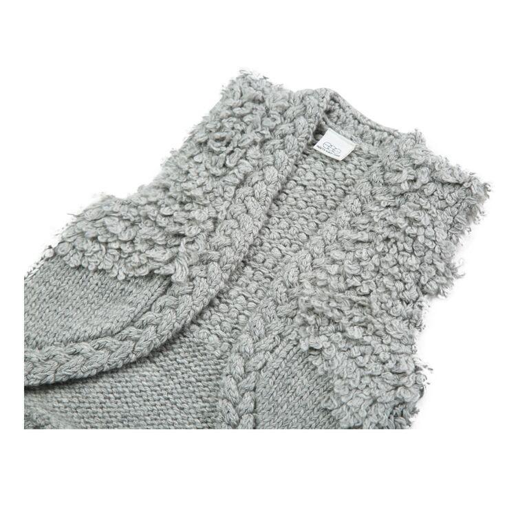 'Anna' Knit Vest in Grey