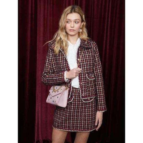 'Candy Apple' Tweed Jacket in Red