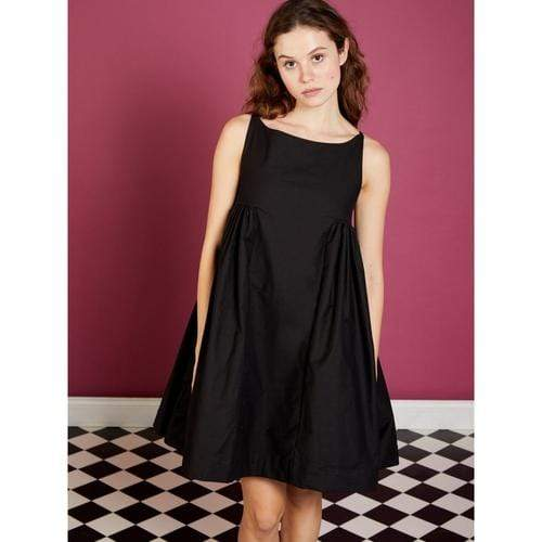 'Jubilee' Puff Dress in Black