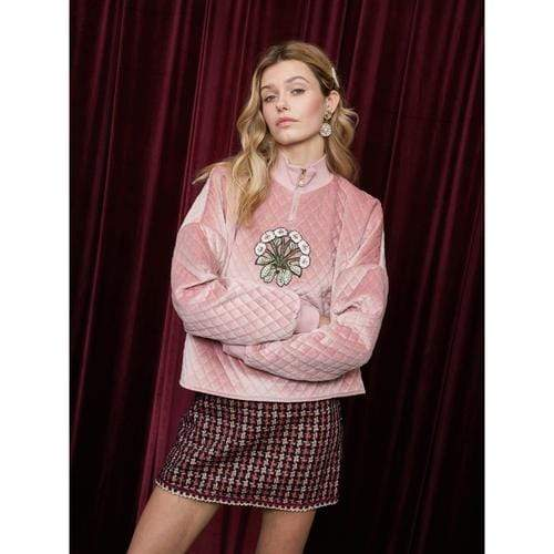'Petal Party' Jumper in Cloud Pink