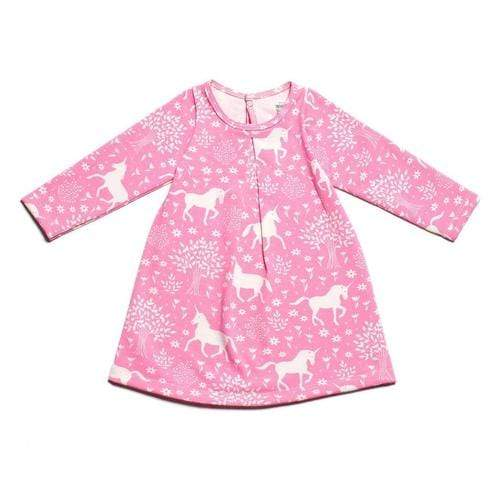 'Aspen' Baby Dress In Magical Forest Pink
