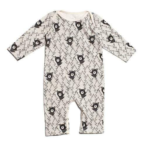 Long Sleeve Romper In Bears Black