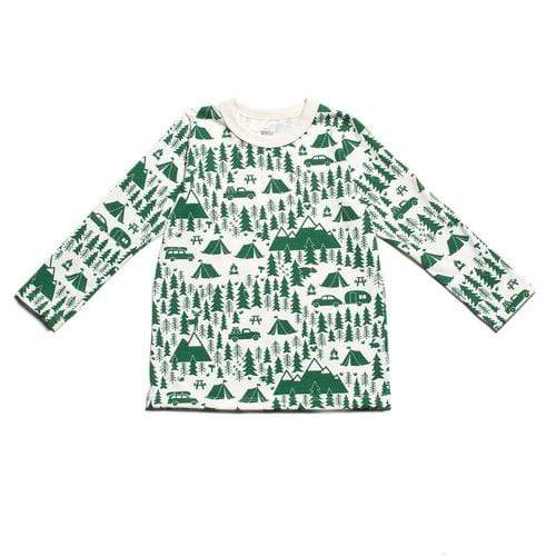 Long Sleeve Tee In Campground Green