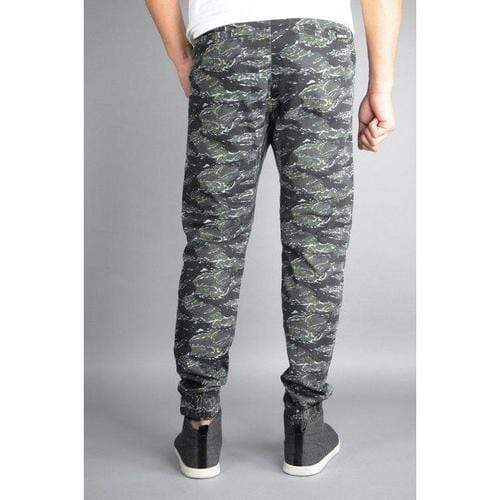 Twill Jogger Pants in Tiger Camo