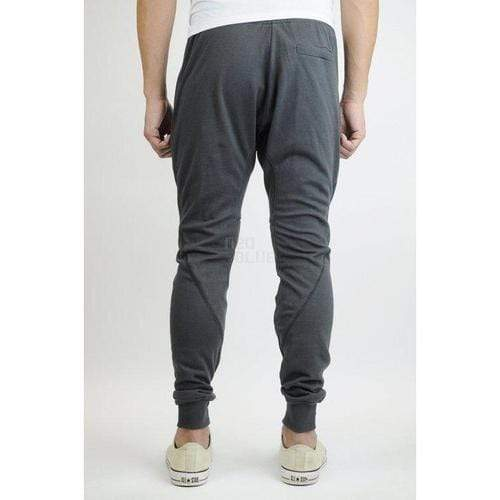 Moto Jogger Sweat Pants in Charcoal