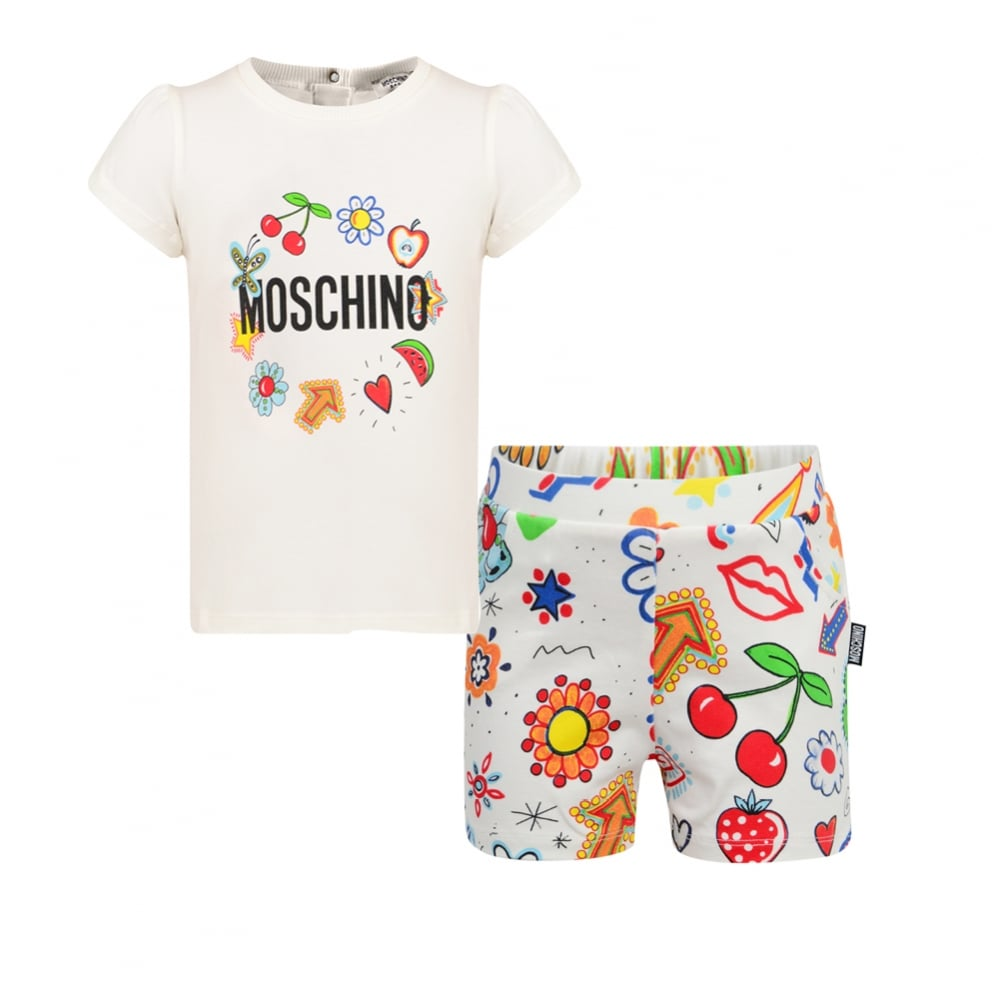 Moschino Top and Short Set Cloud