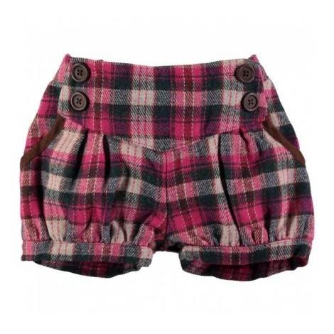 'Cici' Woven Shorts in Pink Checkered
