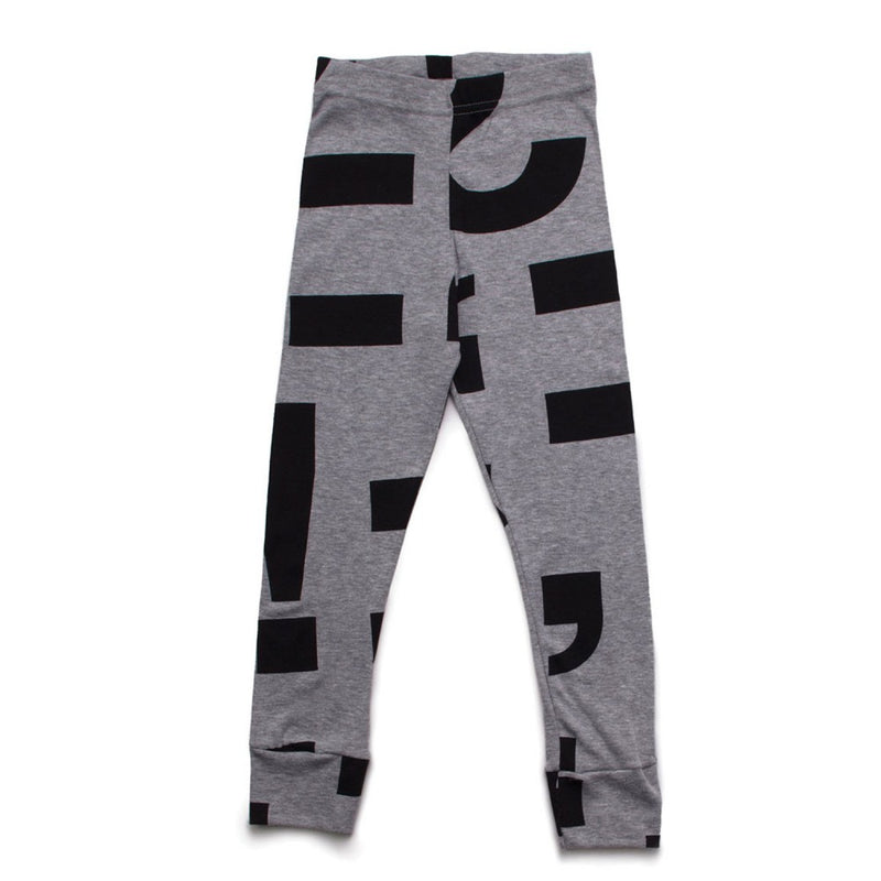 Nununu Punctuation Leggings - Charcoal