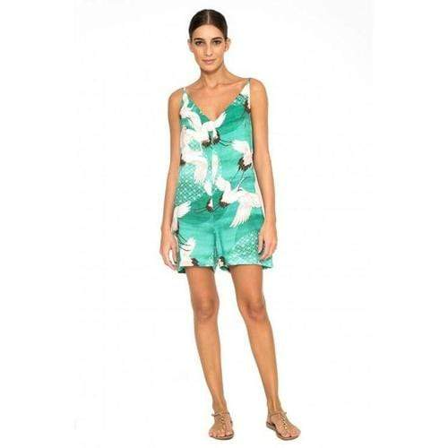 Naomi V Short Jumpsuit In Turquoise Multi
