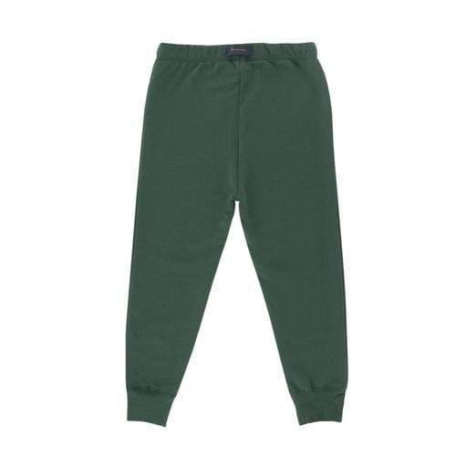 'Friendly Bag' Graphic Sweat Pants in Dark Green
