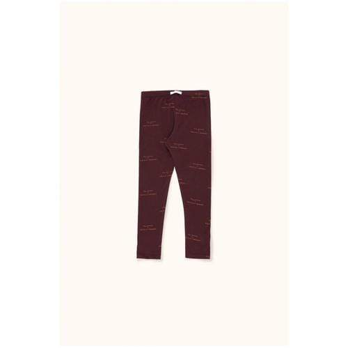 'Tiny Groceries' Print Legging Pants in Plum
