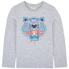 KENZO KIDS TIGER JB 2 BIS LONG SLEEVE T-SHIRT