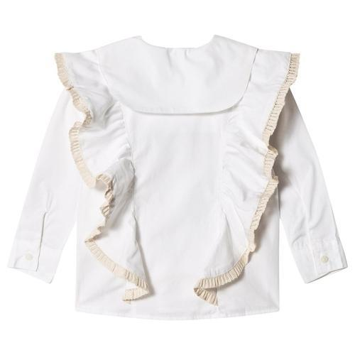'Rebeca' Long Sleeve Blouse in White
