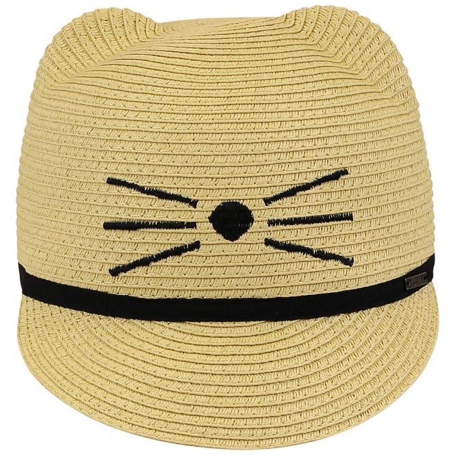 Choupette Girls Straw Hat - Natural