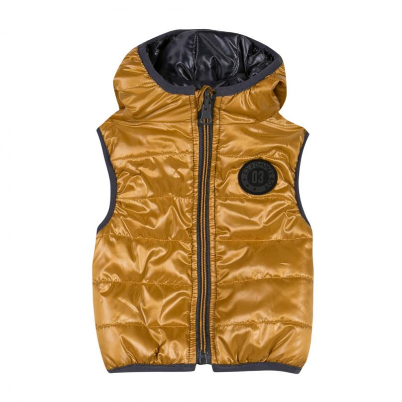 'Rock Band' Reversible Hooded Vest in Copper