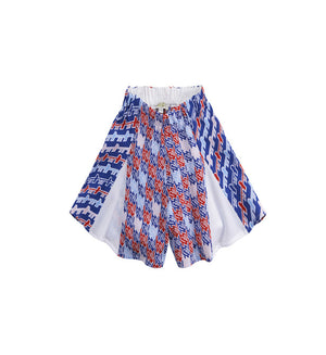 Blondie Short - Blanc/Royal Blue