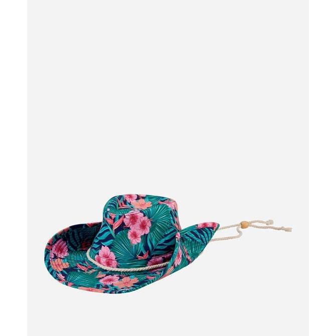 Cowboy Hat in Pink Hawaiian