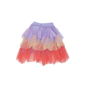 'Luciele' Layered Ruffle Skirt in Multicolor