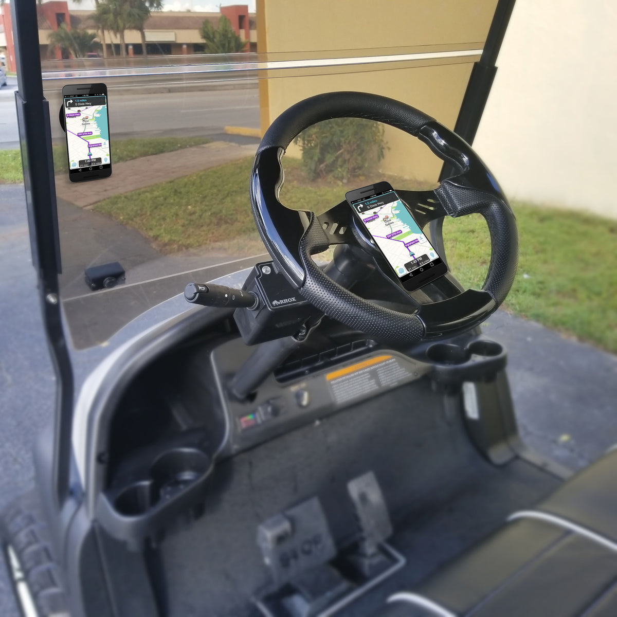 Perfect for Golf Carts, use on your steering wheel or place it on your windshield. It's great for navigation or range finder.