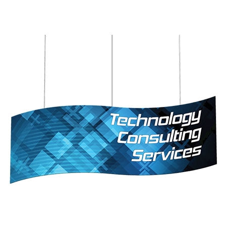 S-Curve Hanging Sign Double-Sided 10'W x 3'H