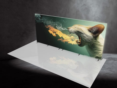 Zilla FIRE. 20' Backlit Display, Single-sided