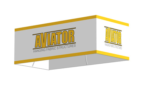 "AVIATOR™ Four-Sided Rectangle Hanging Sign 10'W x 5'D x 48""H"