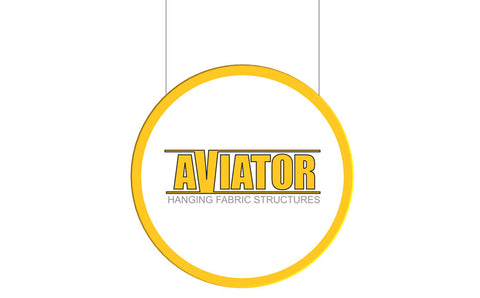 AVIATOR™ 2D Disc Hanging Sign 8' Diameter
